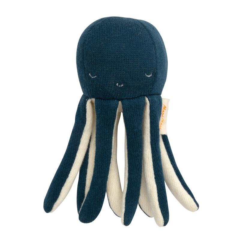 Babyrassel 'Oktopus' Strick dunkelblau