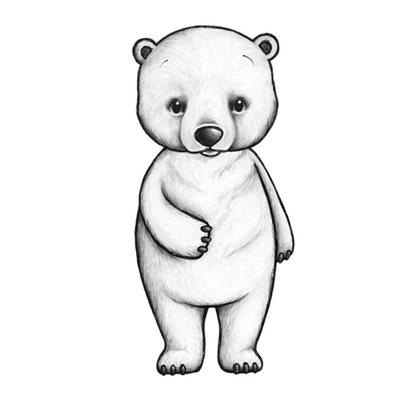 Tier-Wandsticker 'Eisbär' handgezeichnet