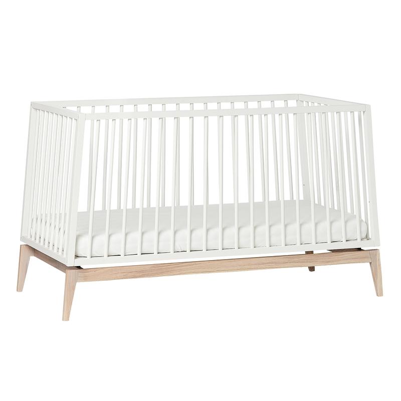 Babybett 'Luna' weiß/natur 70x140cm