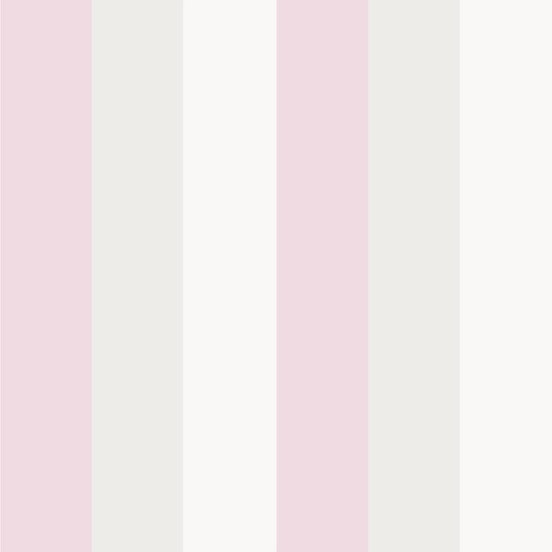 Kindertapete 'XL Streifen' rosa/creme