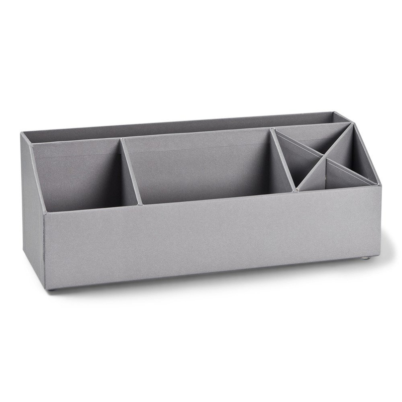 Schreibtisch-Organizer grau 12x33cm