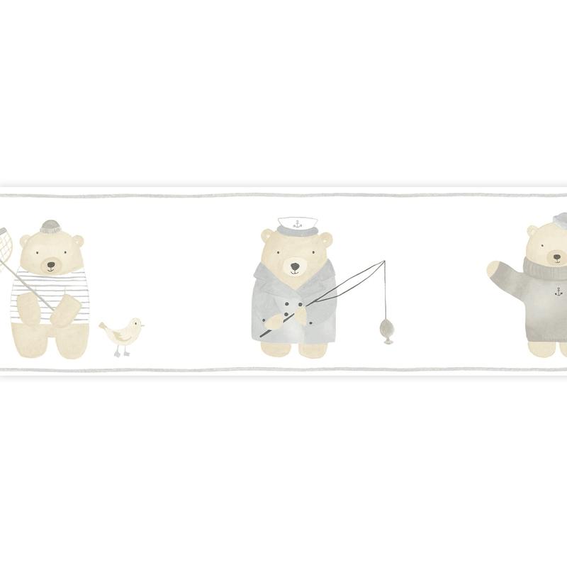 Bordüre 'My Little World' Strandbären beige