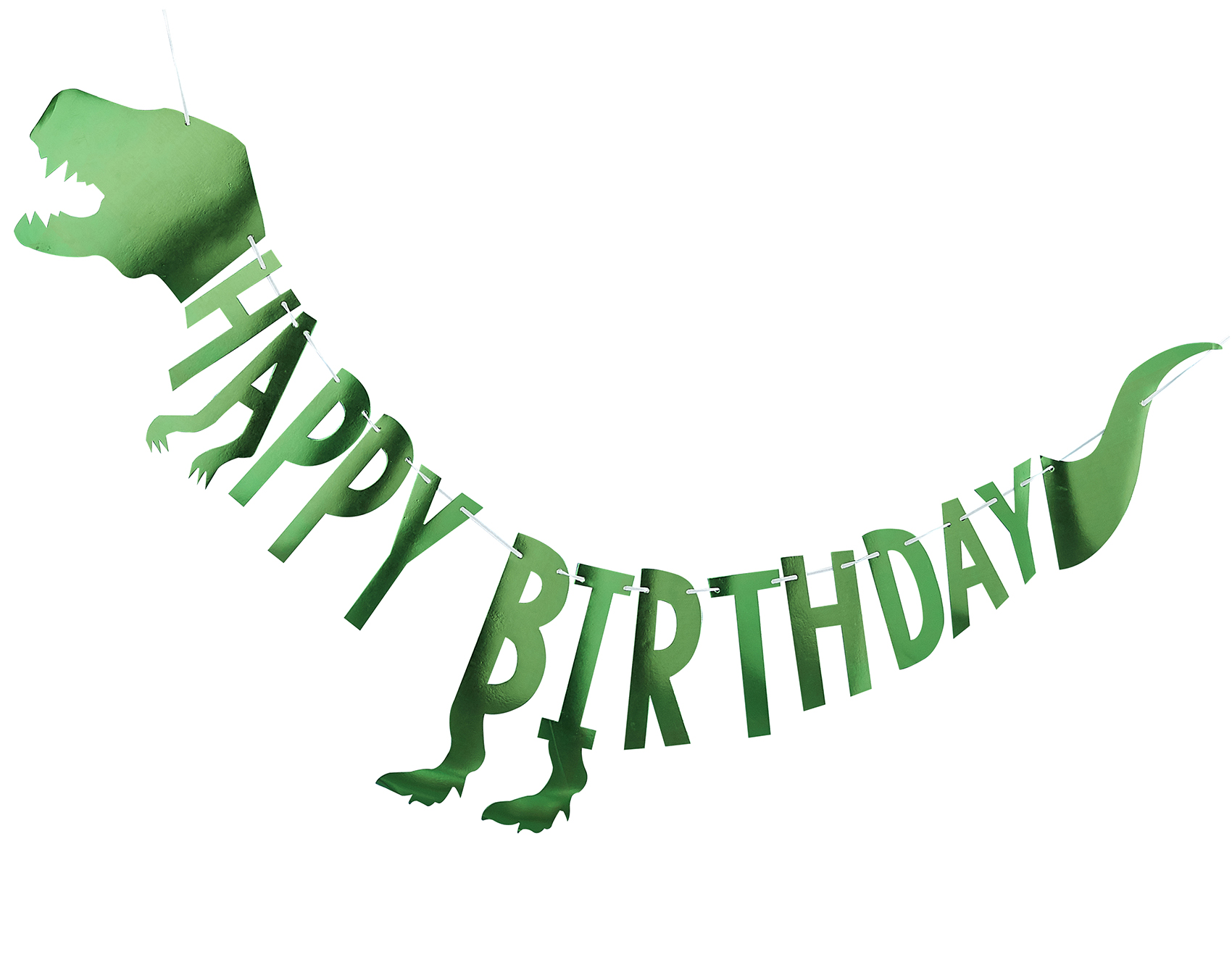 Girlande 'Happy Birthday' Dino grün 8cm