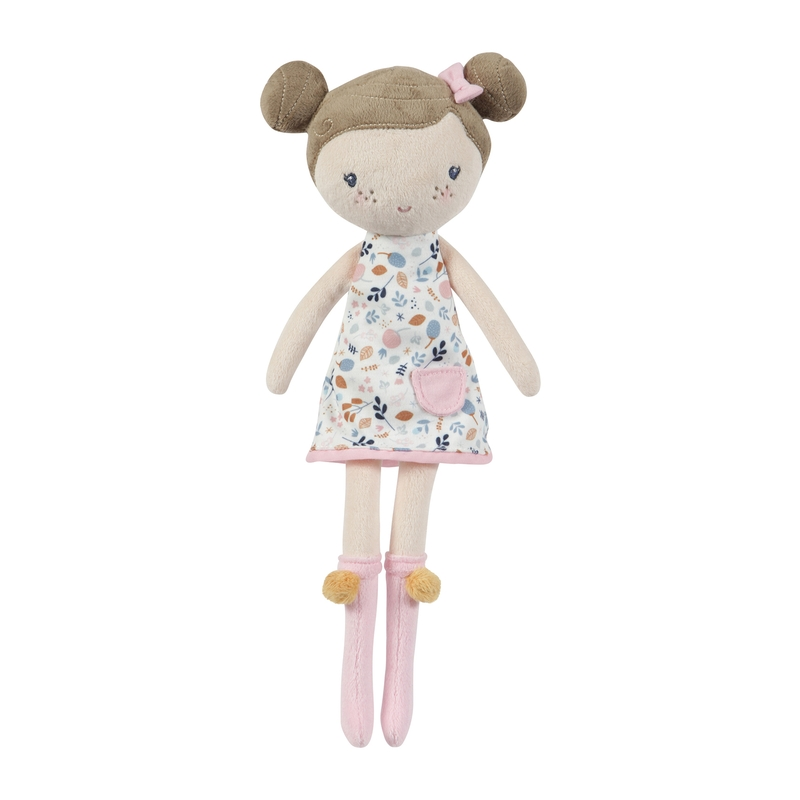 Stoffpuppe 'Rosa' mit Blumenkleid 35cm