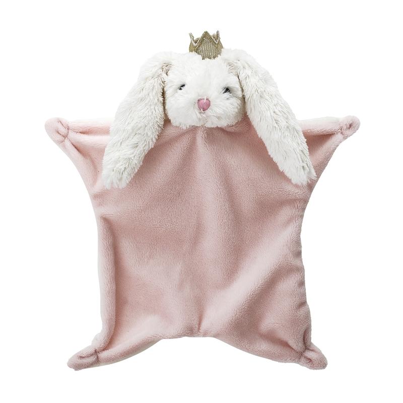 Schnuffeltuch 'Hase mit Krone' rosa ca. 40cm