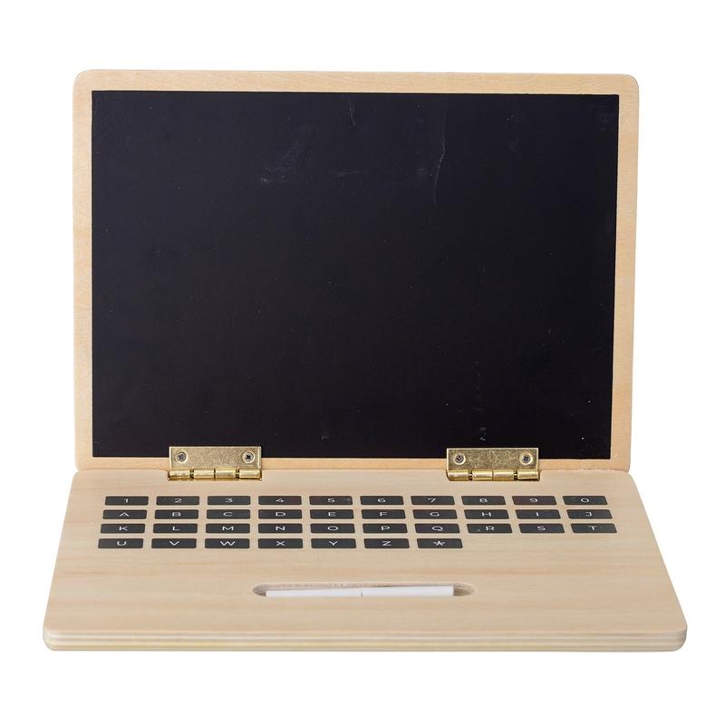 Laptop mit Kreidetafel aus Holz ab 2 Jahren