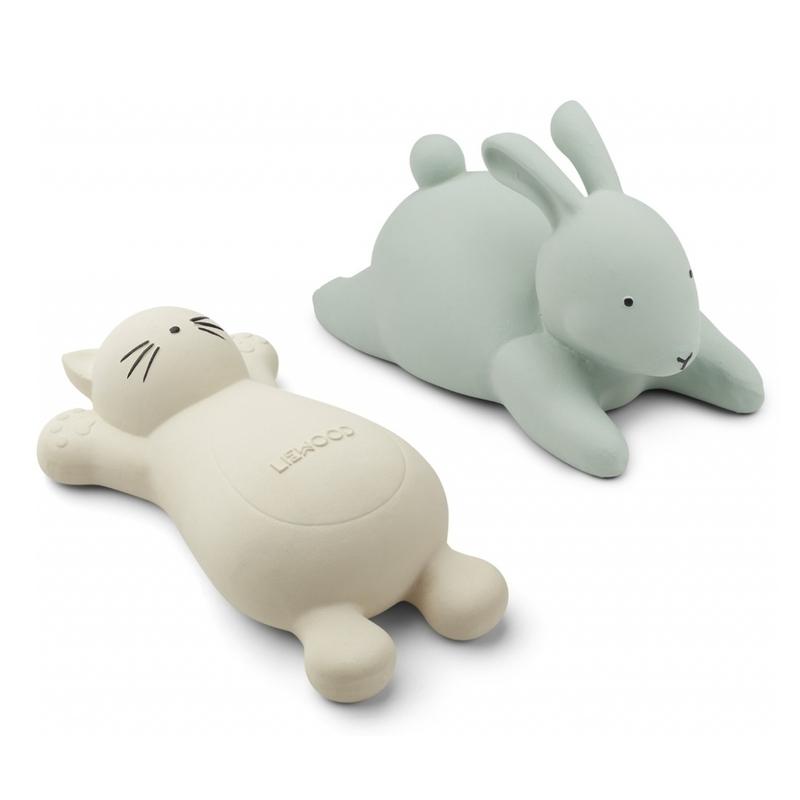 Badespielzeug 'Katze & Hase' creme/mint