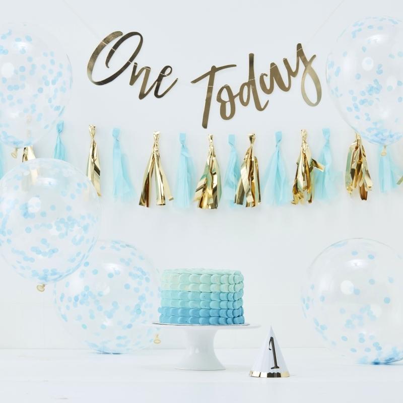 Fotopaket 'One today' gold/blau 8-tlg.