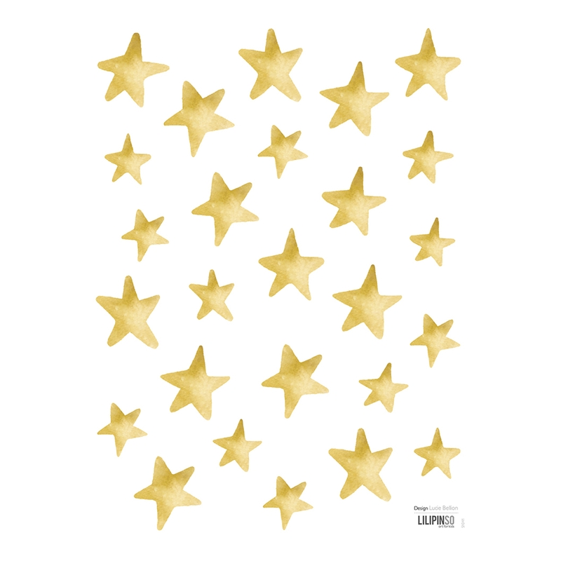 Wandsticker 'Mini Sterne' gold 26-tlg.
