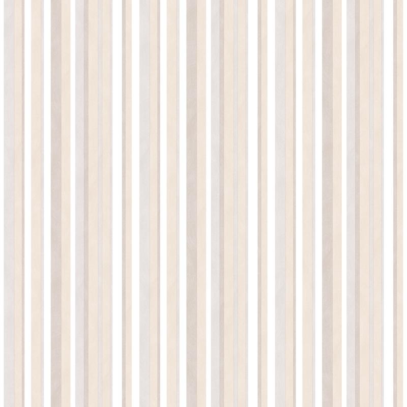 Vliestapete 'Streifen' beige/hellgrau