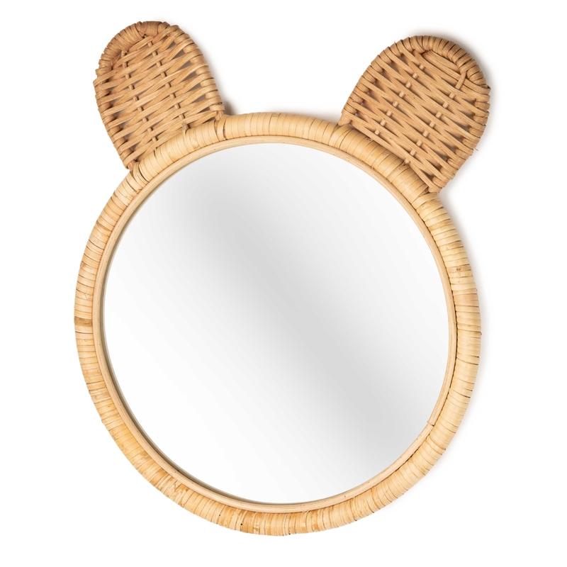 Spiegel aus Bambus Bär 'Minon' 41cm