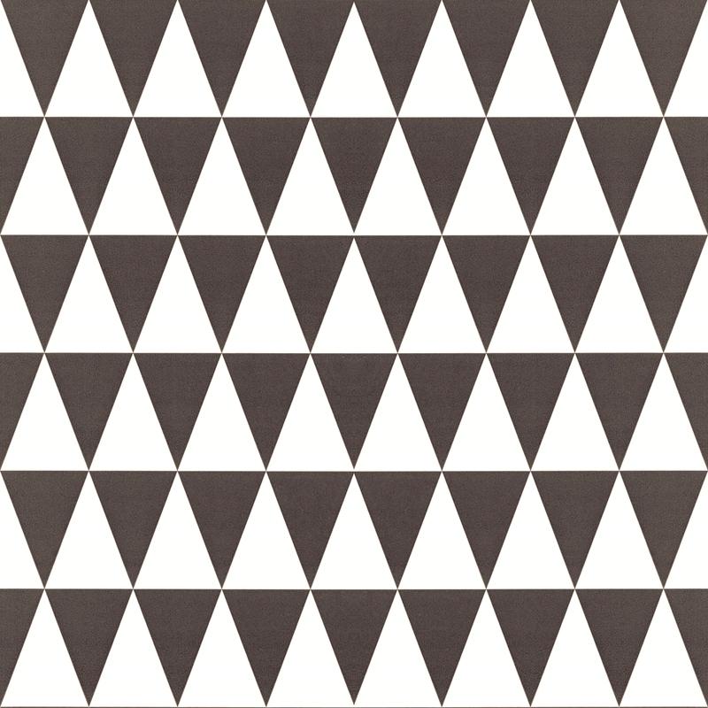 Vliestapete 'Dreiecke' schwarz/weiß