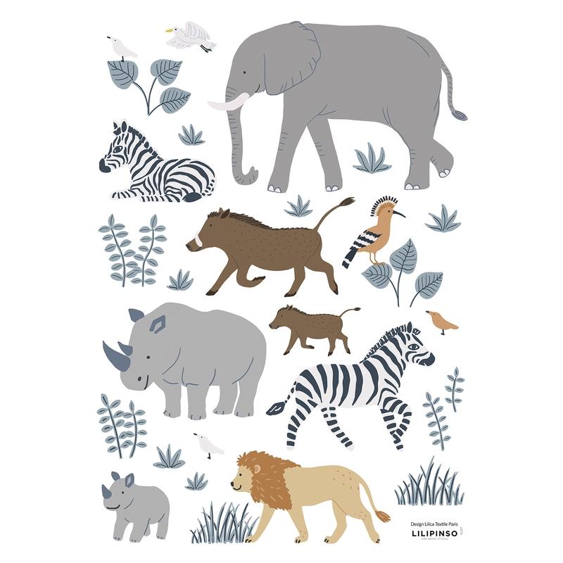 Wandsticker 'Tanzania 2' Safaritiere