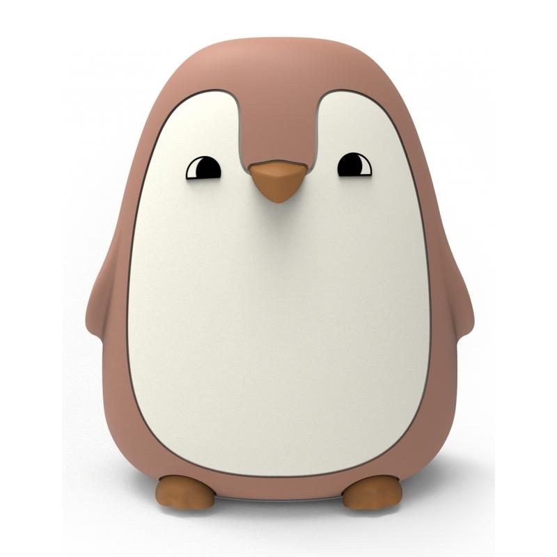 Nachtlicht 'Pinguin' Silikon altrosa ca. 13cm