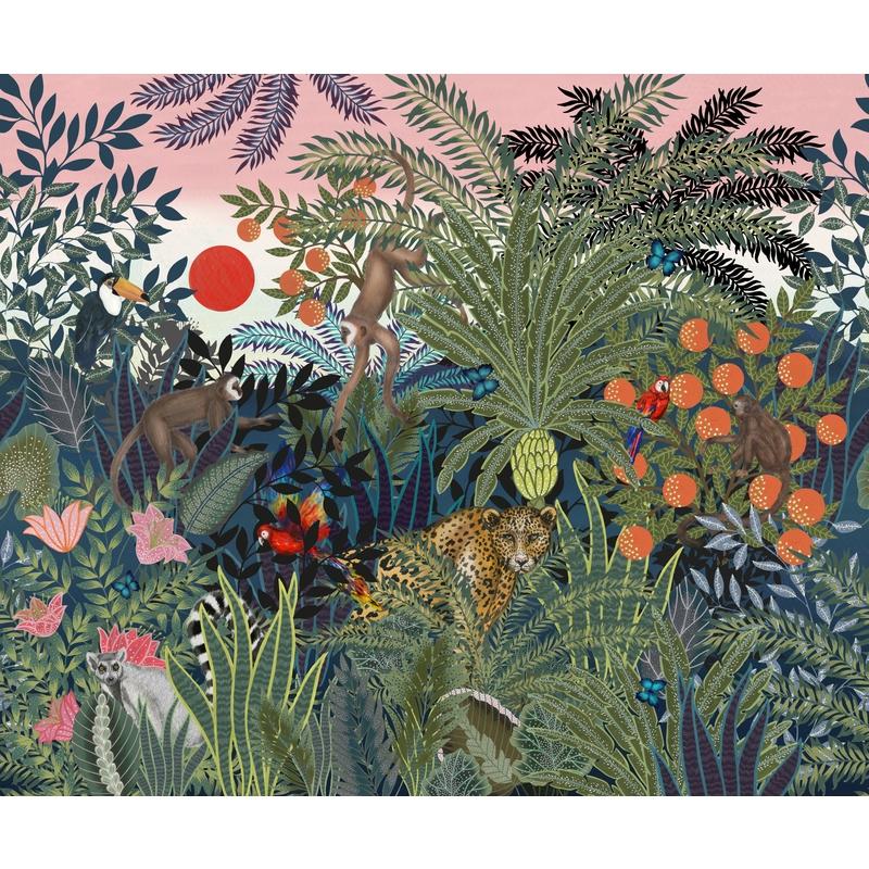 Fototapete 'Dschungel Tiere' 360x300cm