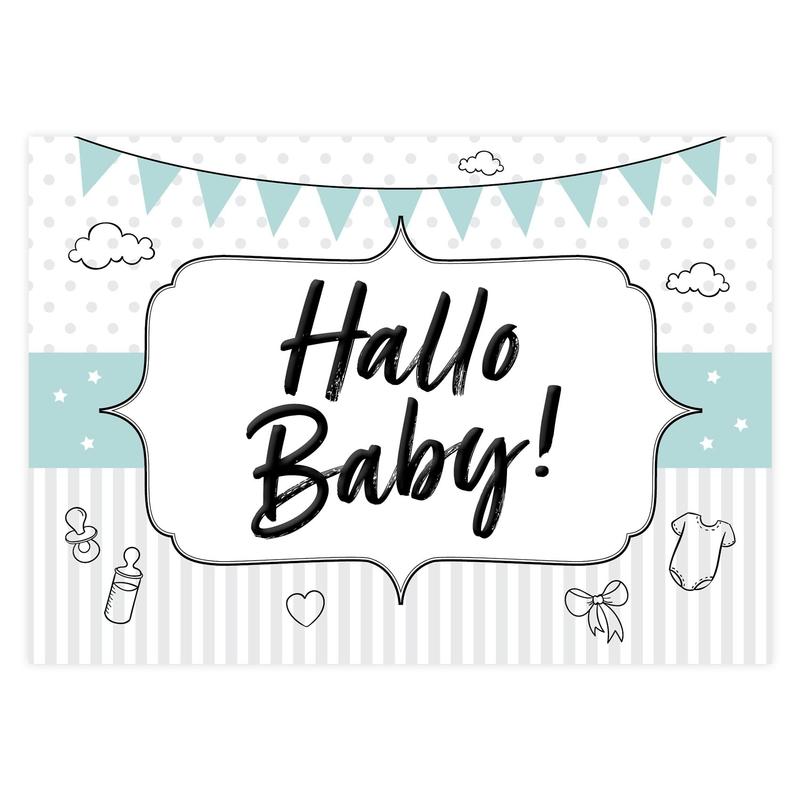 """Geschenkgutschein """"Hallo Baby"""" mint"""