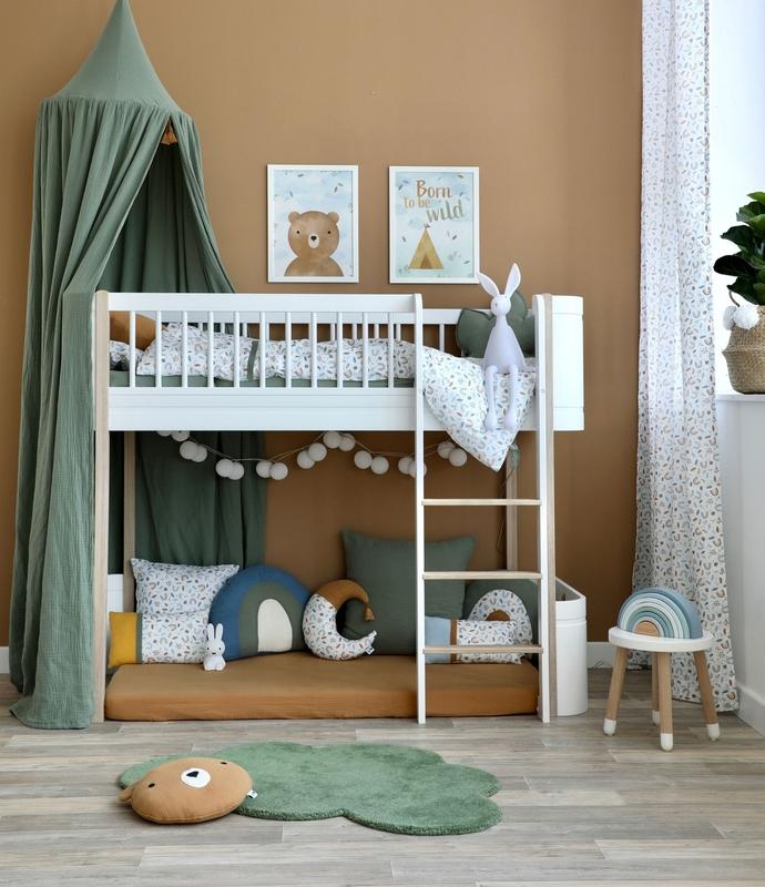 Kinderzimmer mit Halbhochbett Mini+