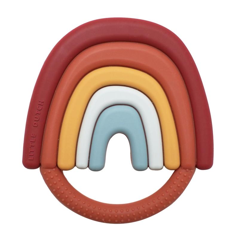 Beißring 'Regenbogen' aus Silikon 10cm