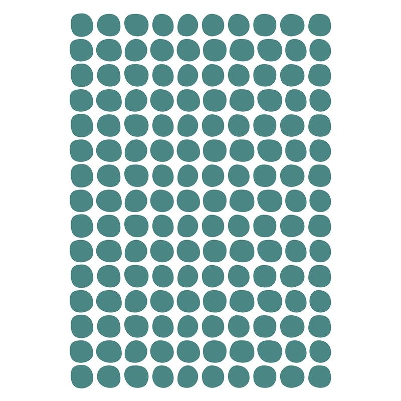 Wandsticker 'Basic Punkte' jade 150-tlg.