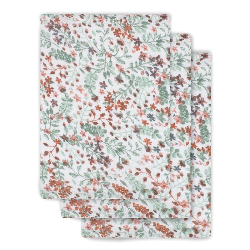Waschlappen 'Bloom' 3er Set Musselin