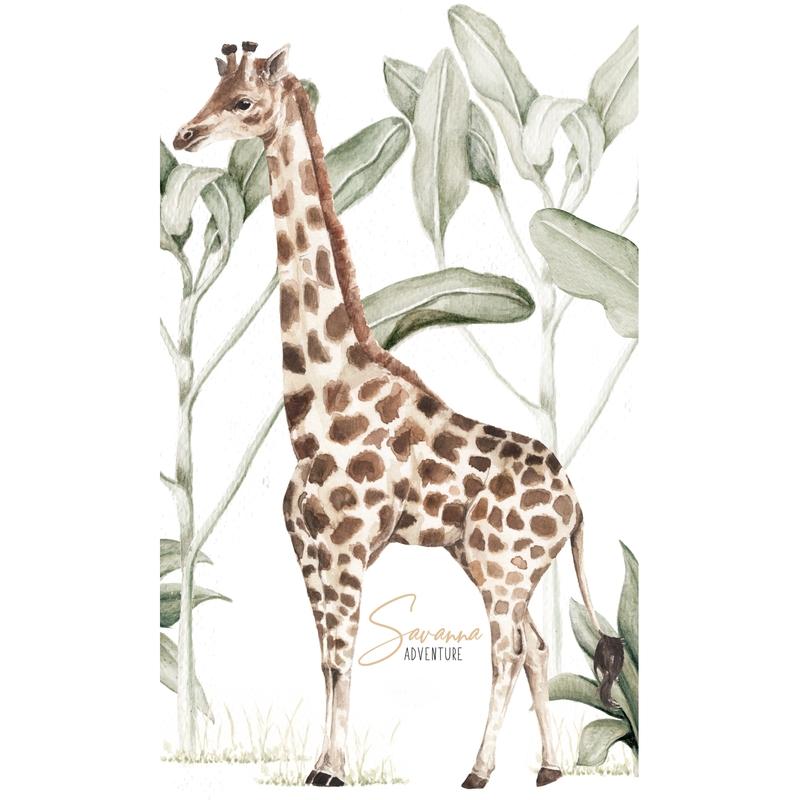 Wandsticker 'Giraffe' beige/braun 77cm