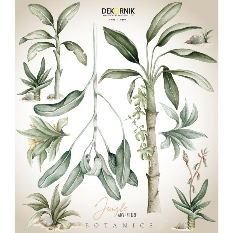 XL-Wandsticker 'Palmen' beige/grün