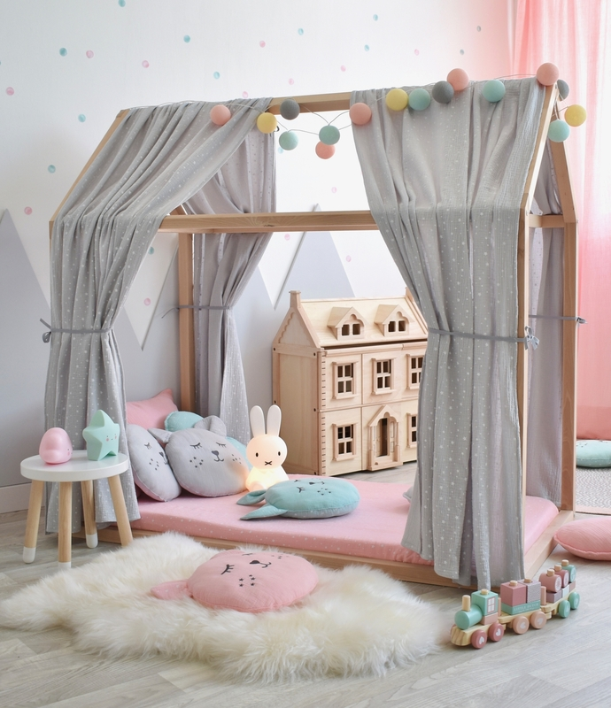 Spielzimmer für Mädchen in Rosa & Mint