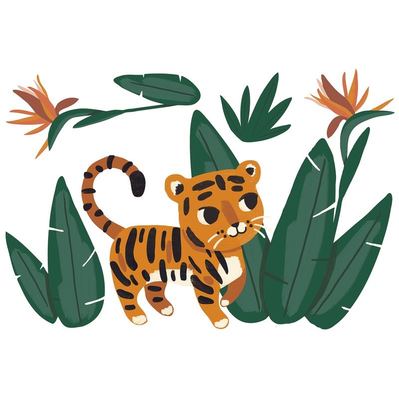 Wandsticker 'Jungle' Leopardenbaby