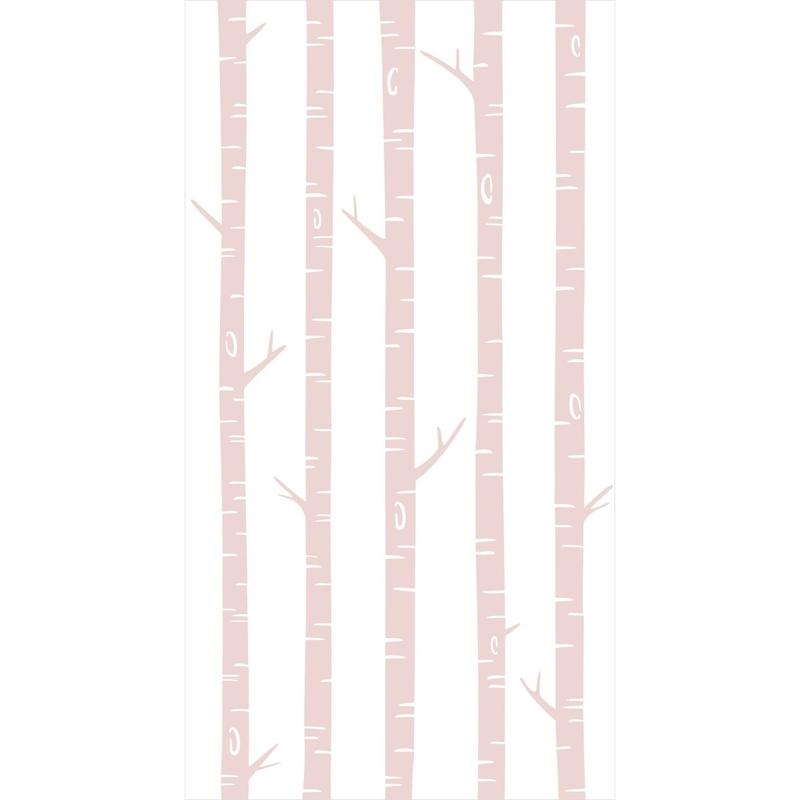 Fototapete 'Bäume' weiß/rosa 150x279cm