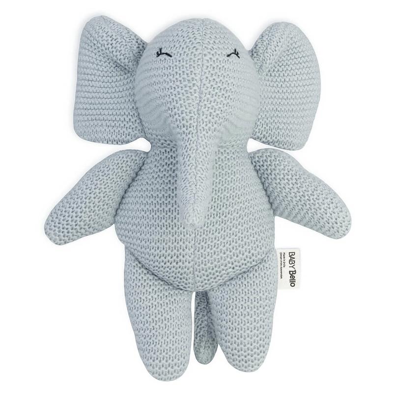 Bio Kuscheltier 'Elefant Elvy' hellblau