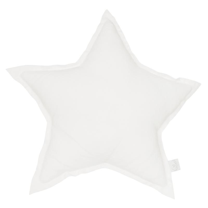 Kissen aus Leinen 'Stern' weiß ca. 45cm