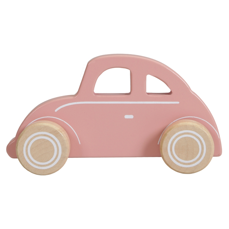 Holzauto rosa ca. 15cm ab 1 Jahr