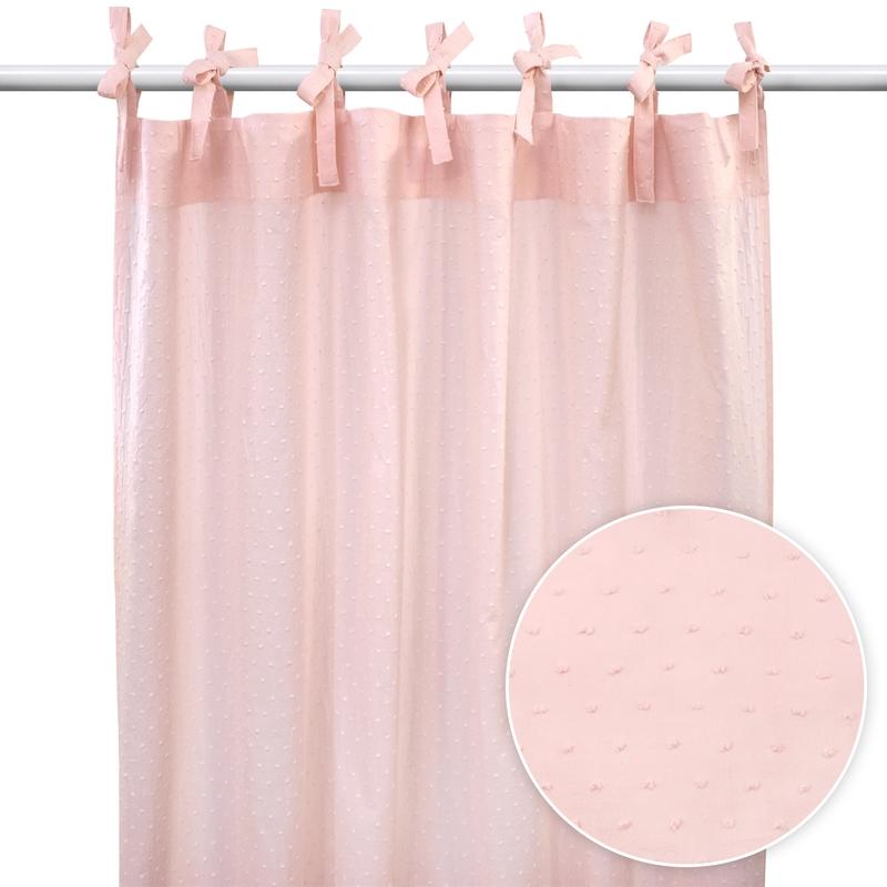 Vorhang mit 3D-Punkten puderrosa H 220cm