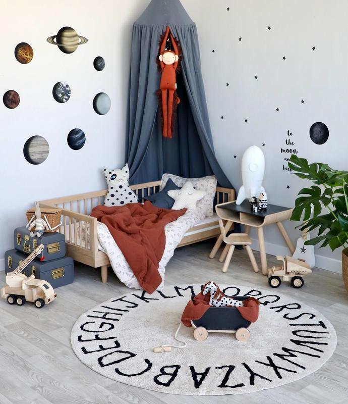 Kinderzimmer mit Weltraum Deko