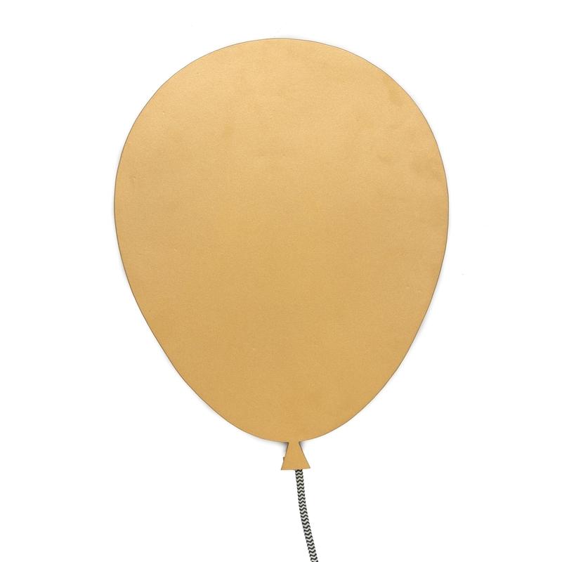 Wandlampe 'Luftballon Barba' gold LED 35cm