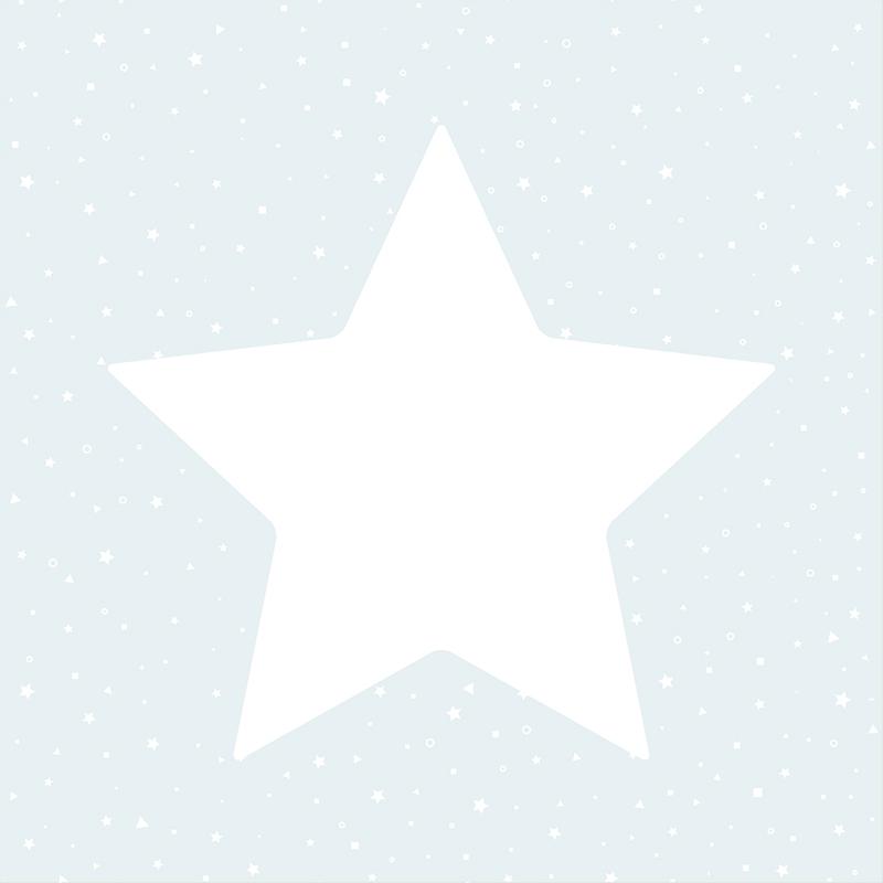 Kindertapete 'Sterne' hellblau/weiß