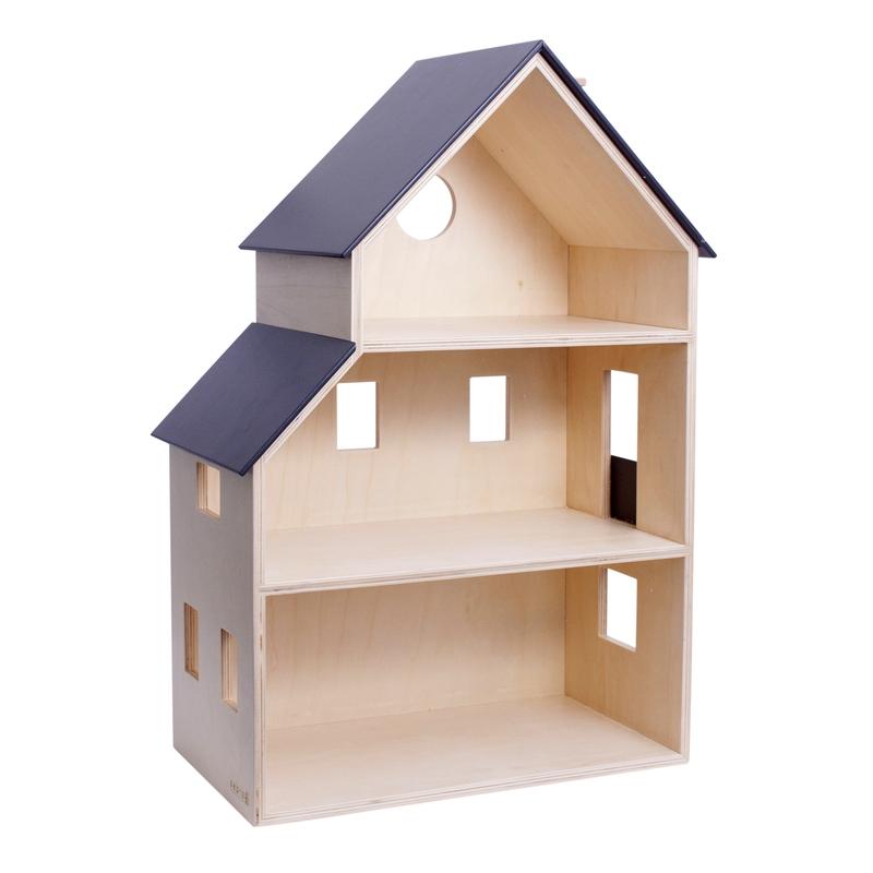 Puppenhaus aus Naturholz 60cm ab 2 Jahren