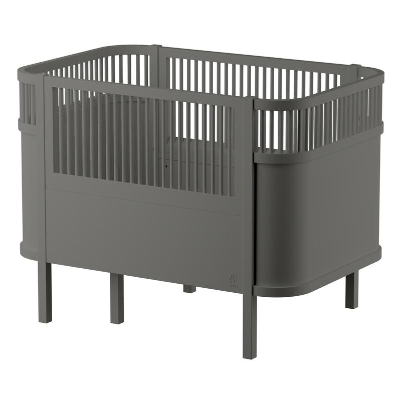 Babybett & Juniorbett classic grey