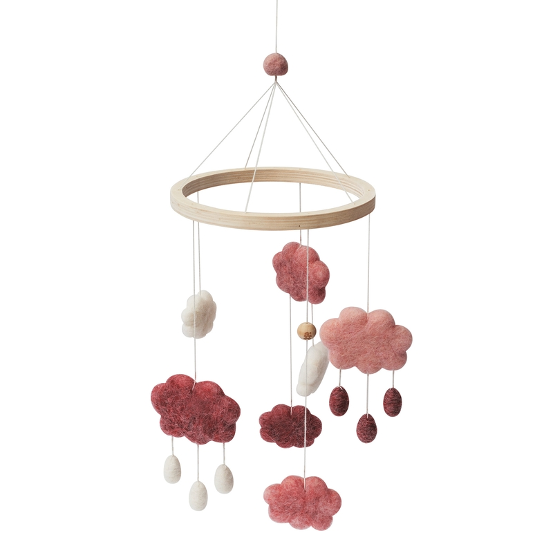 Filz-Mobile 'Wolken' candy pink