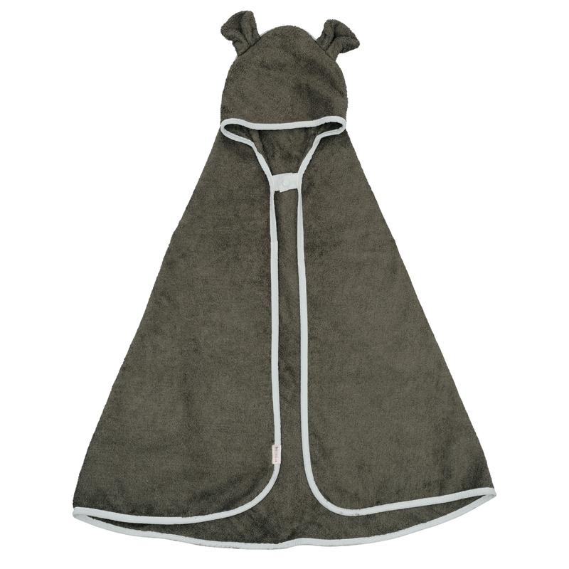 Kapuzenhandtuch 'Bär' khaki 105x110cm