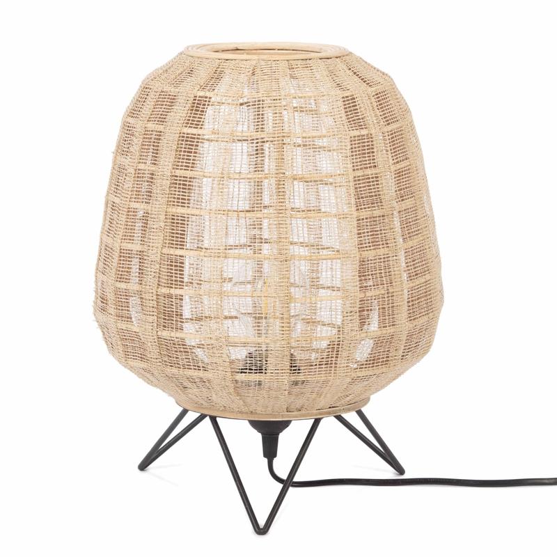 Tischlampe 'Mauro' aus Naturholz 34cm