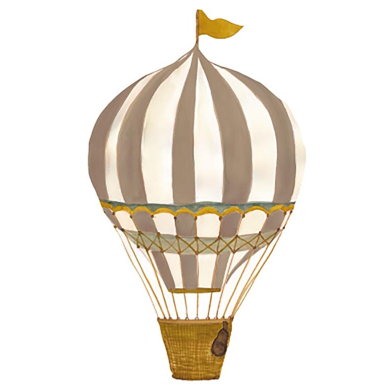 Stoff-Wandsticker 'Heißluftballon' senf
