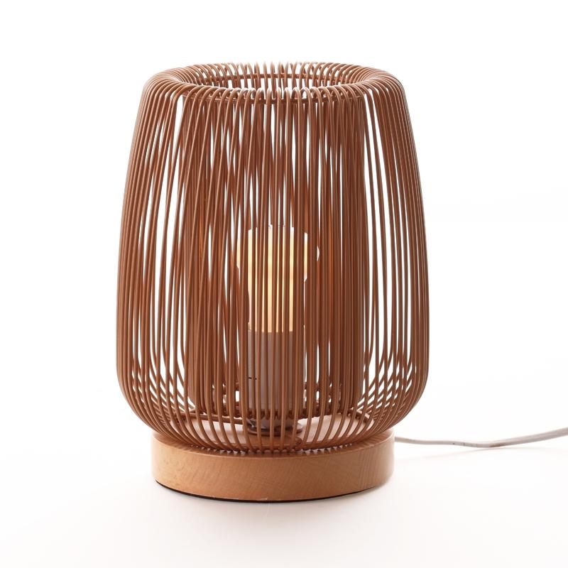 Tischlampe 'Zazu' Metall rost/natur 23cm