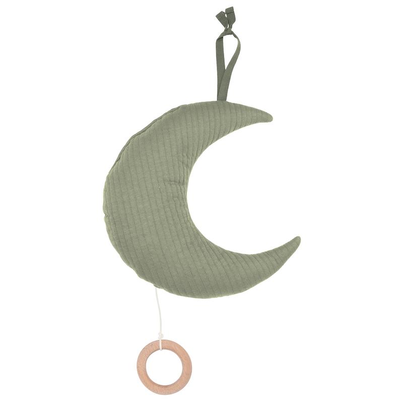 Spieluhr Mond 'Pure' Jersey oliv ca. 27cm
