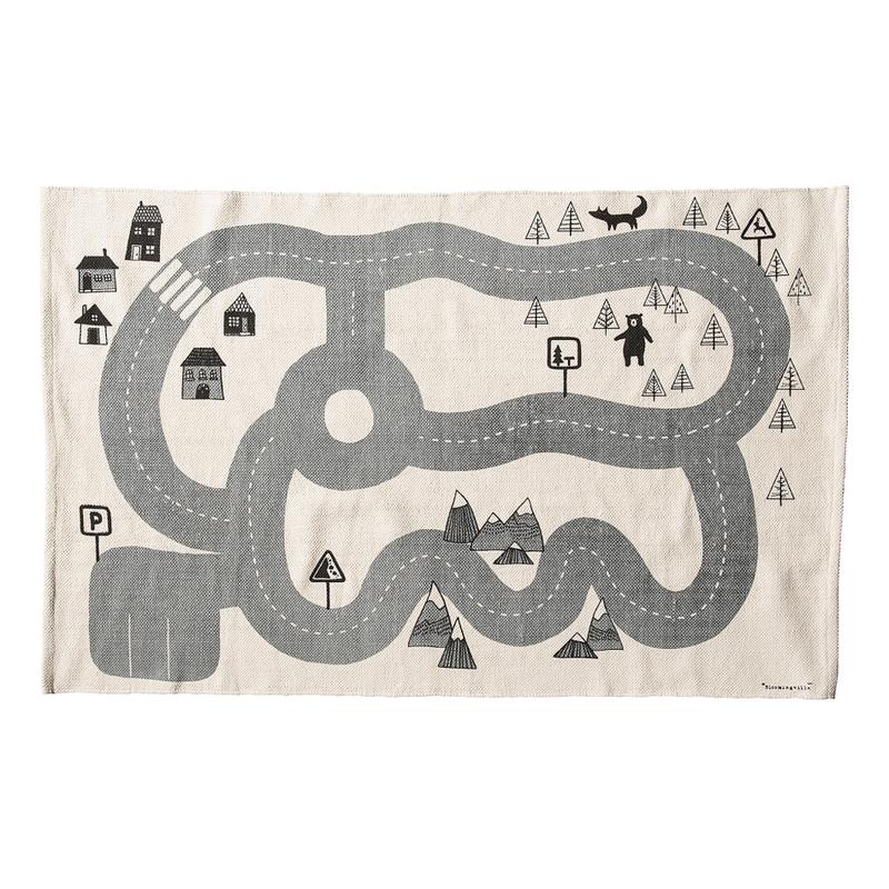 Spielteppich 'Straßen' creme/grau 100x150cm