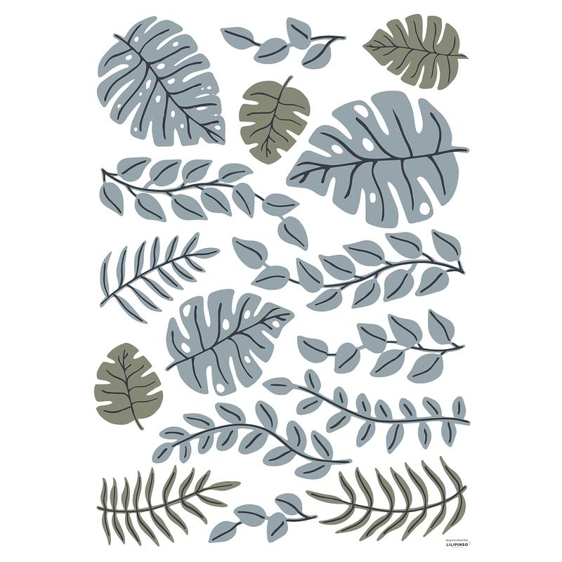 Wandsticker 'Tanzania' Blätter jade/oliv