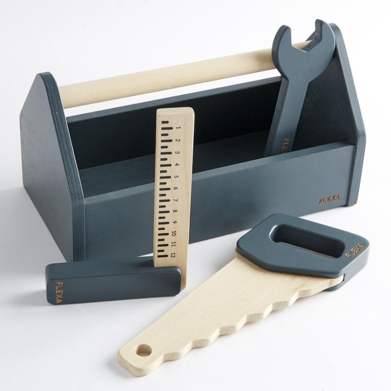 Werkzeugkiste taubenblau 4-tlg. ab 3 Jahren
