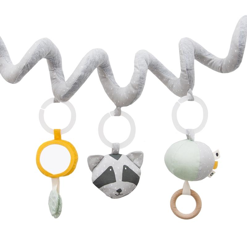 Spielkette 'Waschbär' Baumwolle grau