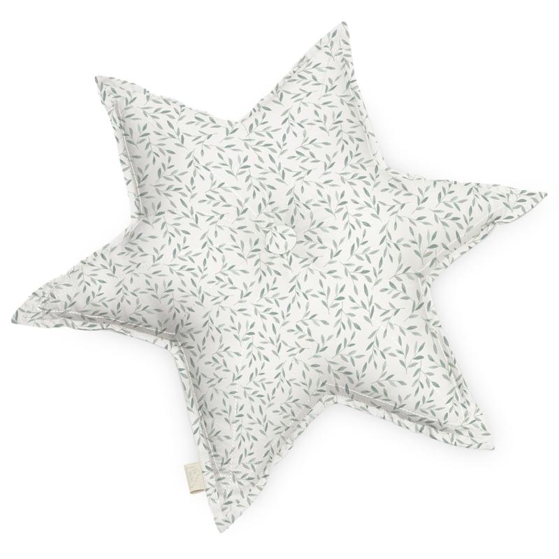 Bio Kissen 'Stern Leaves' grün ca. 48cm