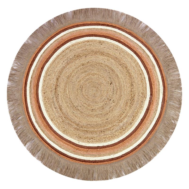 Teppich Jute 'Tess' rund rost/natur 110cm
